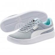 Puma California Shoes Womens Quarry-White-White (989CVFRX)