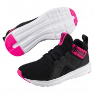 Puma Enzo Training Shoes Womens Black-Shocking Pink (991XGDJU)