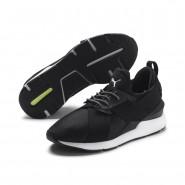 Puma Muse Shoes Womens Black-White (999WNKZO)